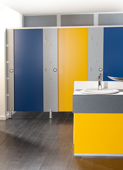 Easy Clean toilet cubicles