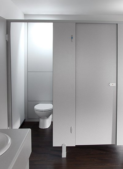 Budget toilet cubicle
