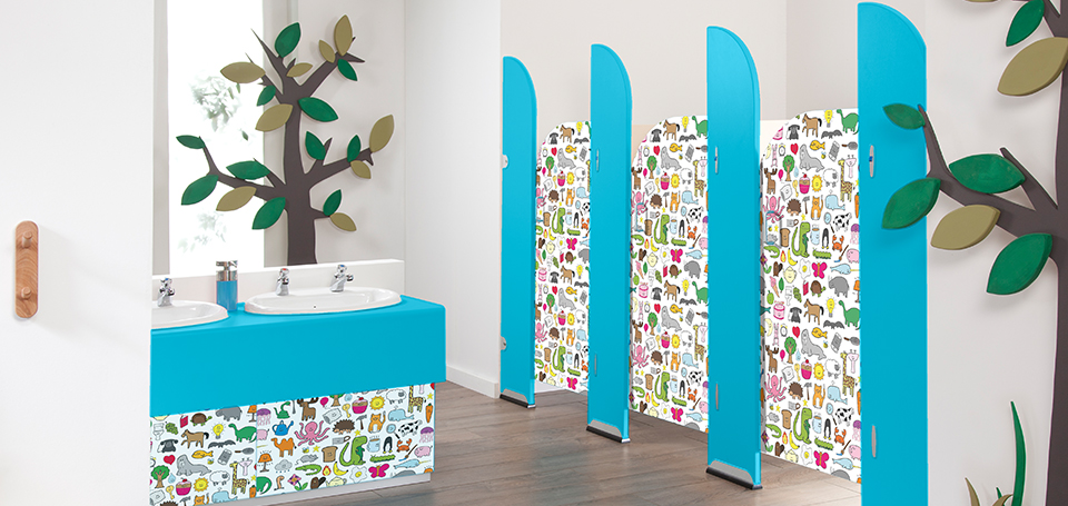 Happy Everything vinyl door design