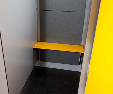Bench seating for changing rooms by cubicle centre - Made to measure bench seating ...