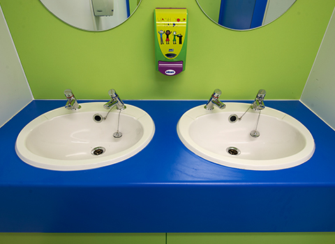 Junior school children's sinks