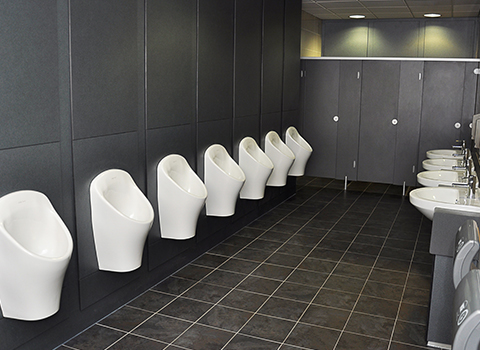 VIP washroom at Madejeski football stadium
