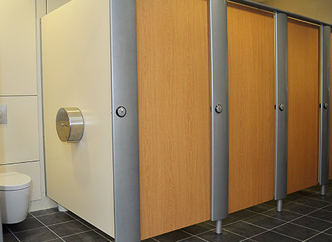 Luxury toilets cubicles in Reading stadium