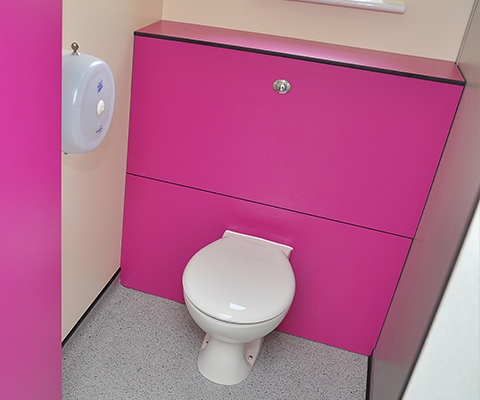 School toilet cistern box kit