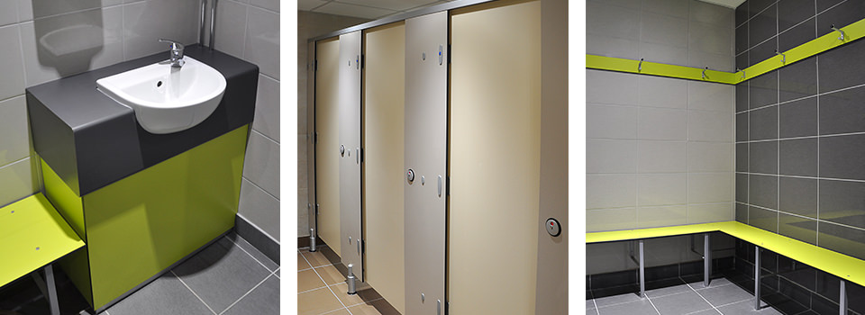 Squash Club shower cubicles