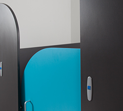 Childrns cubicle curved door Sydney