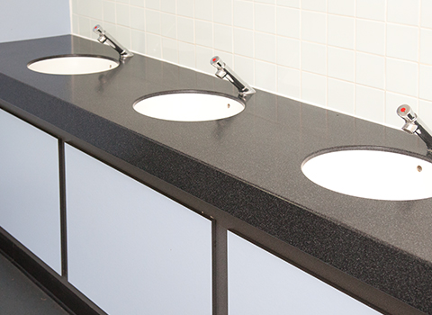 Visitor attraction hand washing area
