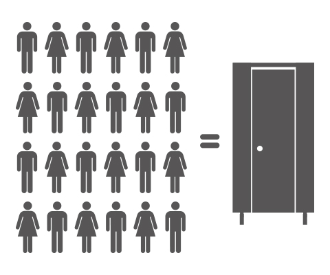 How many toilet cubicles do I need?