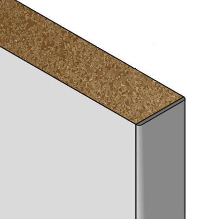 Panel edge strip illustration