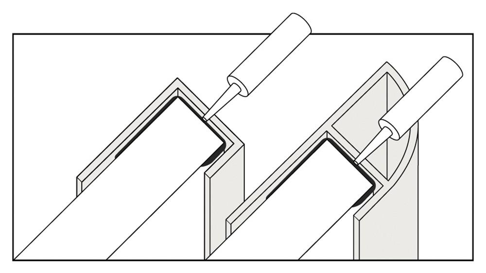Water proof end trim illustration